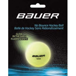 Balle Bauer Hockey fluorescente - Promoglace France