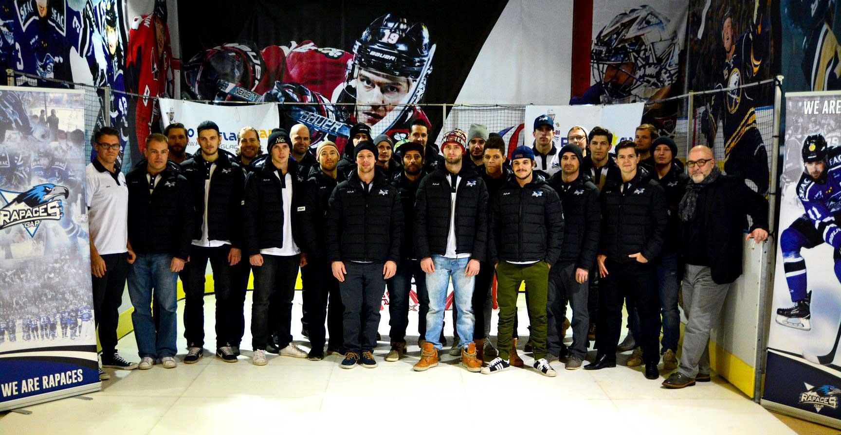 Inauguration patinoire synthétique avec les Rapaces de Gap