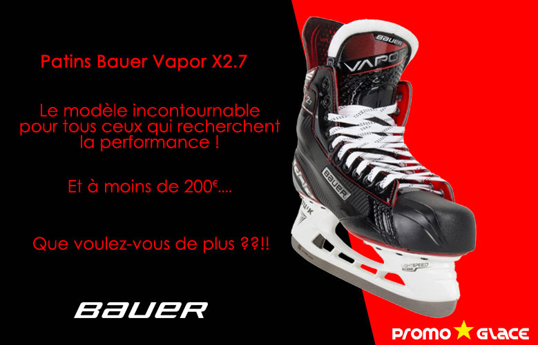 Patins Bauer Vapor X2.7 - Promoglace Hockey