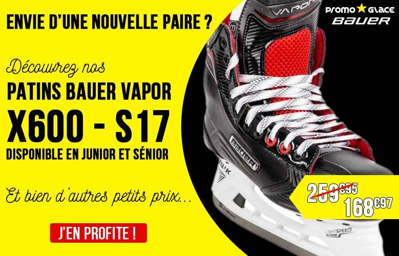 Patins Bauer Vapor X600 - S17 - Promoglace Hockey