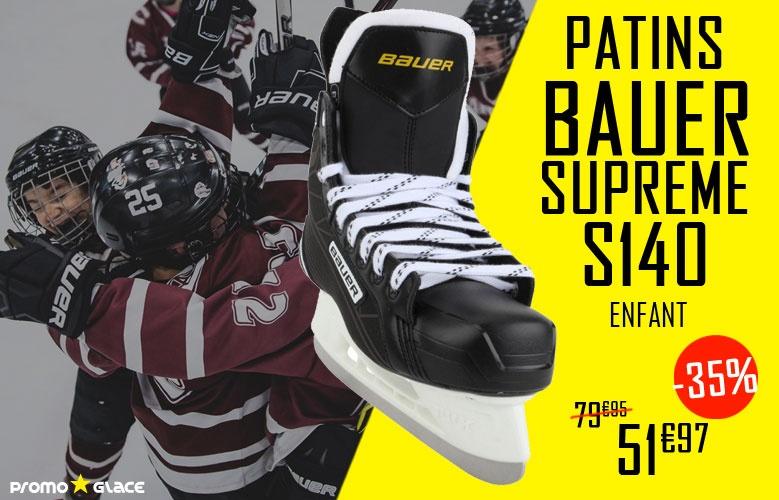 Patins Bauer Supreme S140 Enfant en promotion - Promoglace