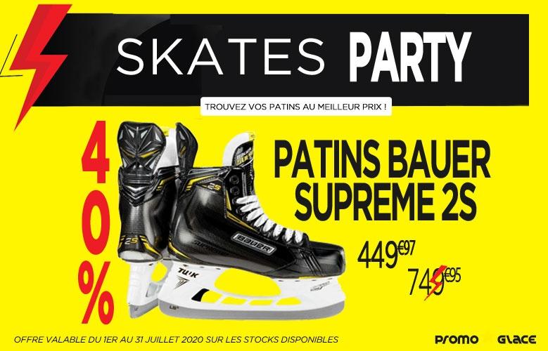 Patins Bauer Supreme 2S Skate Party - Promoglace Hockey
