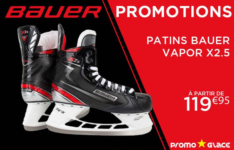 Patins Bauer Vapor X2.5 en promotion - Promoglace Hockey