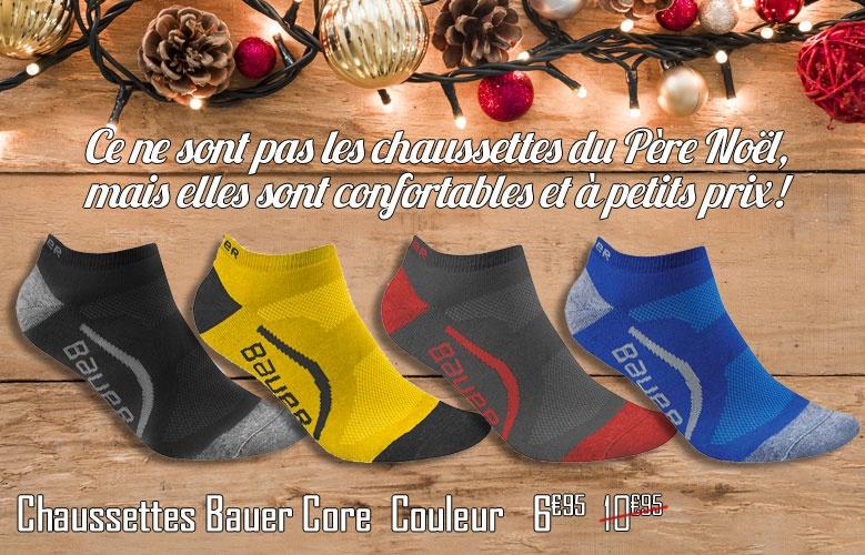 Chaussettes Bauer Core Couleur Basse - Promoglace