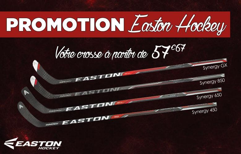 Crosses easton hockey en promotion