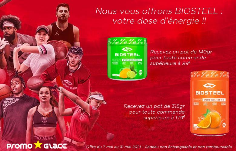 Biosteel offert dans votre commande - Promoglace Hockey