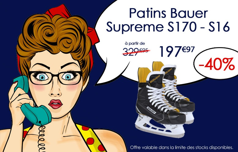 Patins Bauer Hockey Supreme S170 - S16 en promotion