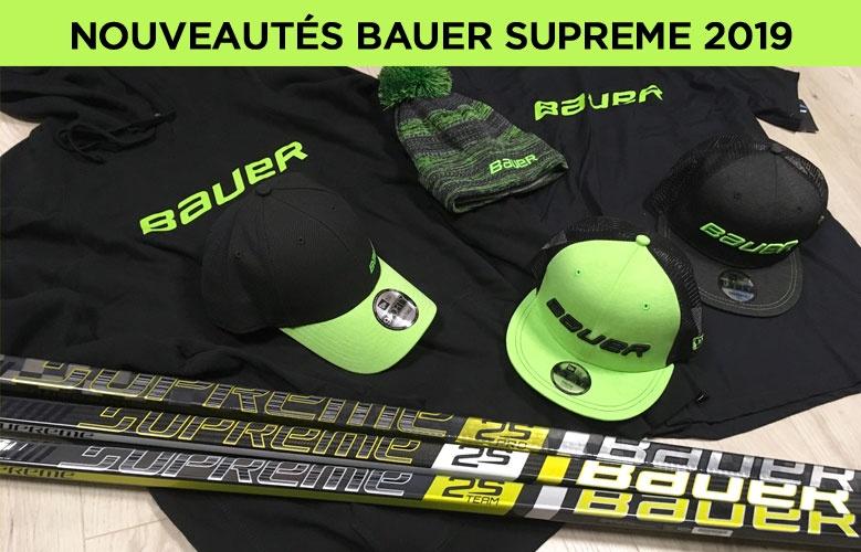 Nouvelles crosses Bauer Hockey Supreme 2019 - Promoglace