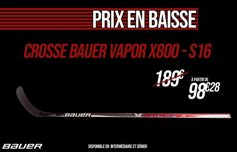 Crosse Bauer Vapor X800 S16 en promotion