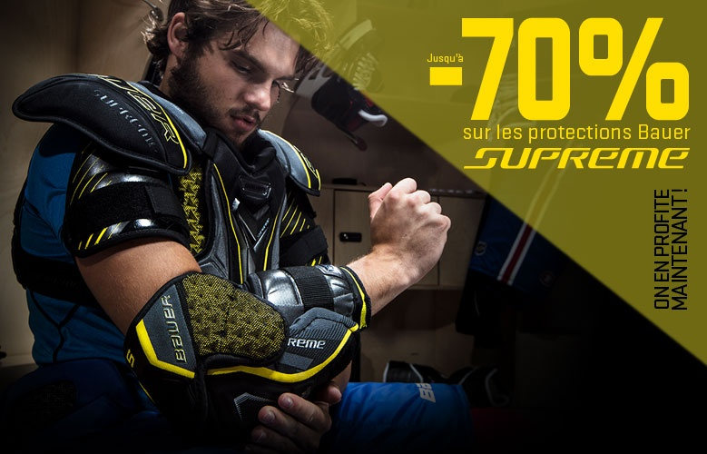 Protections Bauer Supreme en promotion